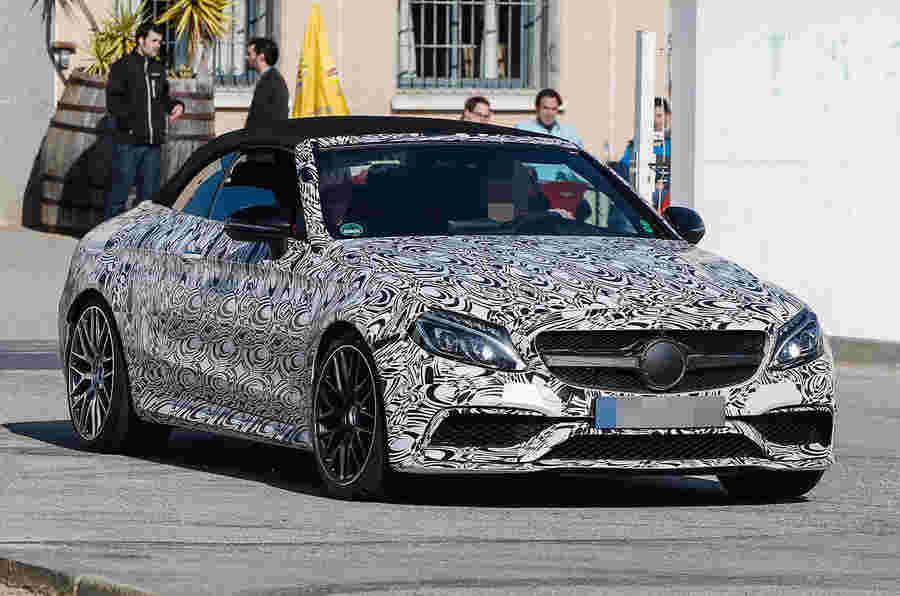 2016 Mercedes-AMG C63 Cabriolet Spied测试